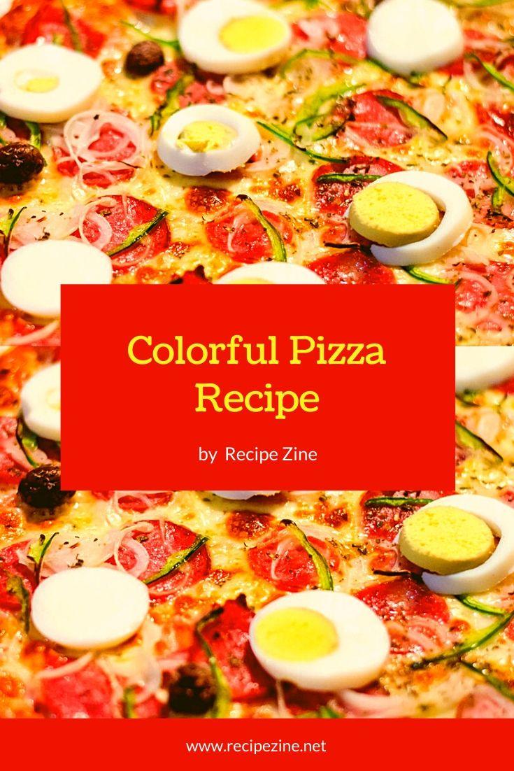 Mediterranean Colorful Pizza